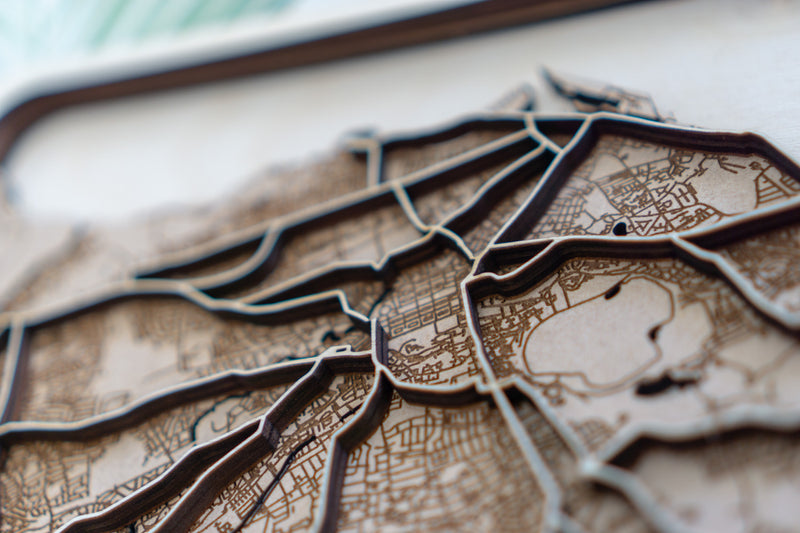 Edinburgh Laser Cut Map