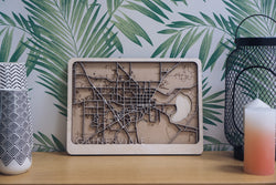 Gainesville Laser Cut Map