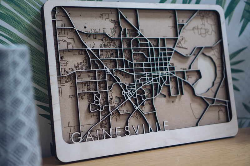 Gainesville Wood Map