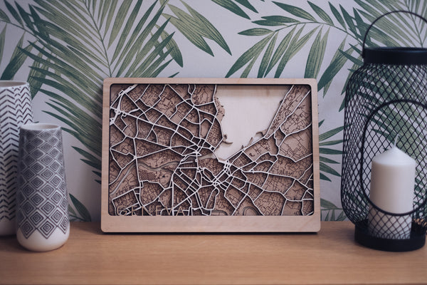Geneva Laser Cut Map