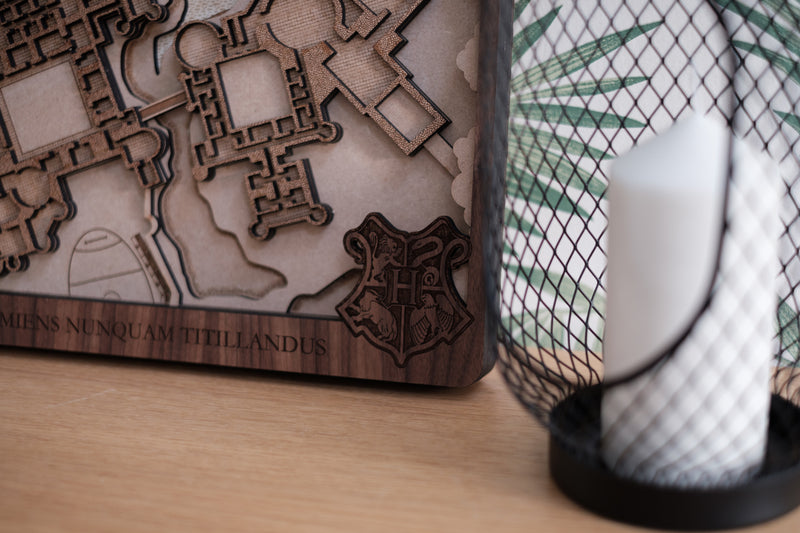 Hogwarts Laser Cut Map
