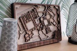 Harry Potter Laser Cut Map