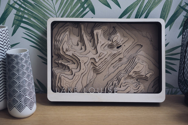 Lake Louise Laser Cut Map