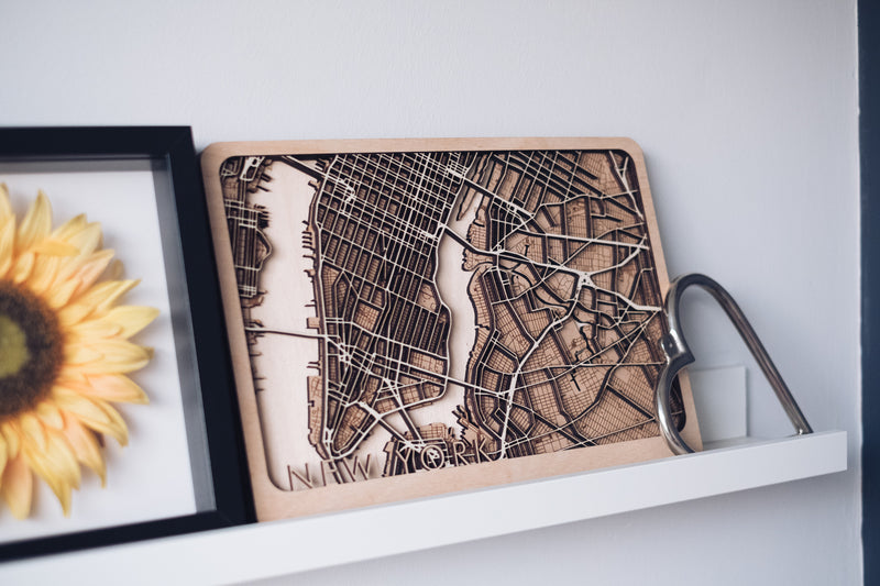 Brooklyn laser cut map