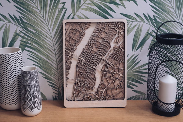 Manhattan Wood Map