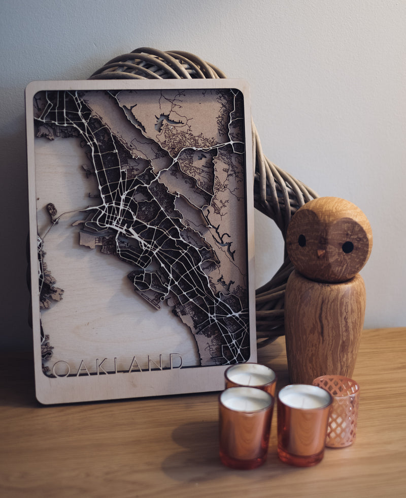 custom wood map