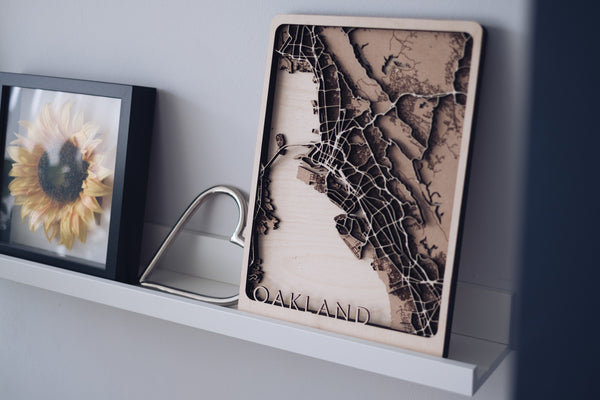 Oakland Laser cut map