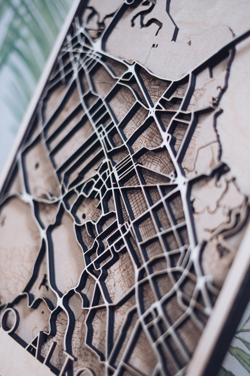 palo alto laser cut map