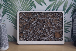Paris wood map