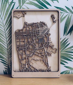San Francisco wood Map