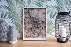 Savannah Laser cut Wood Map