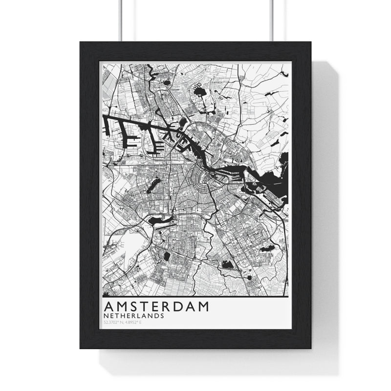 Amsterdam City Print Framed. Classic Style