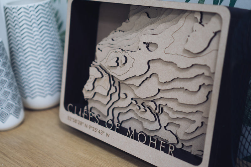 Cliffs Of Moher Topographic Map