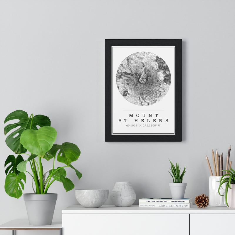 mt st helens map print