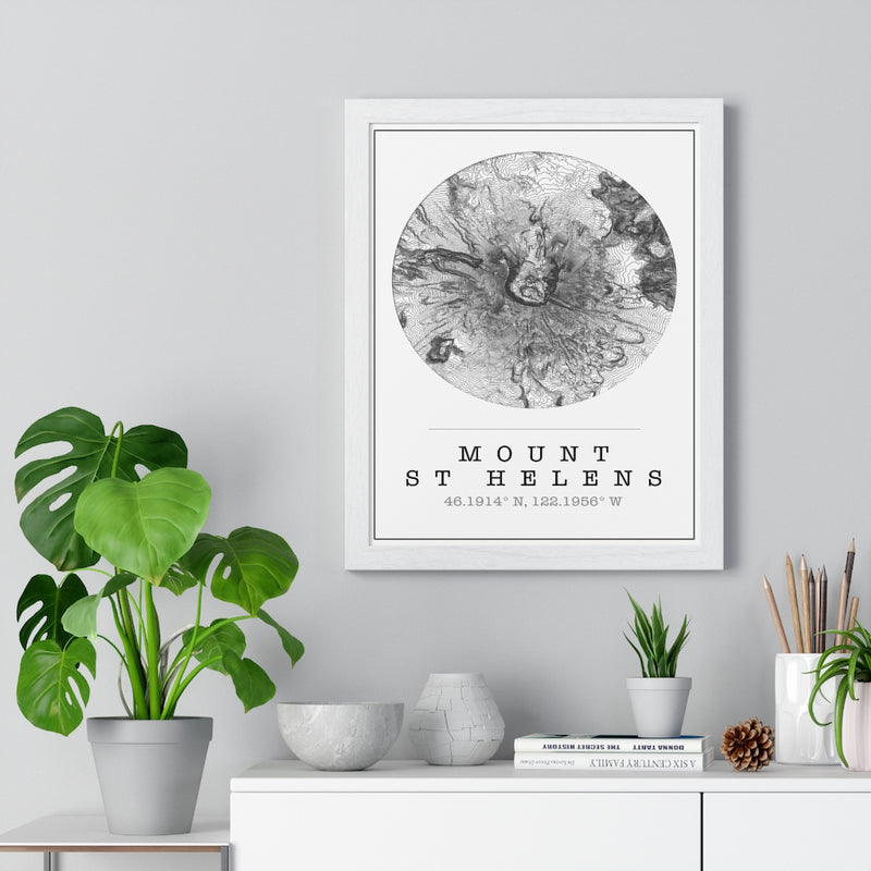 Custom Location Map Print. Framed. Circle Style