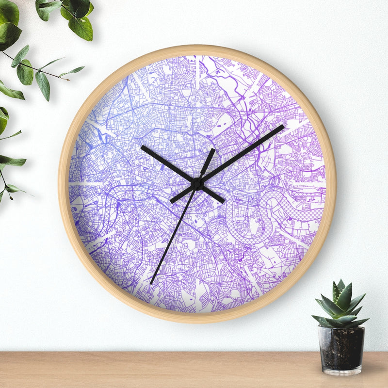 Custom Location Cartographic Wall Clock