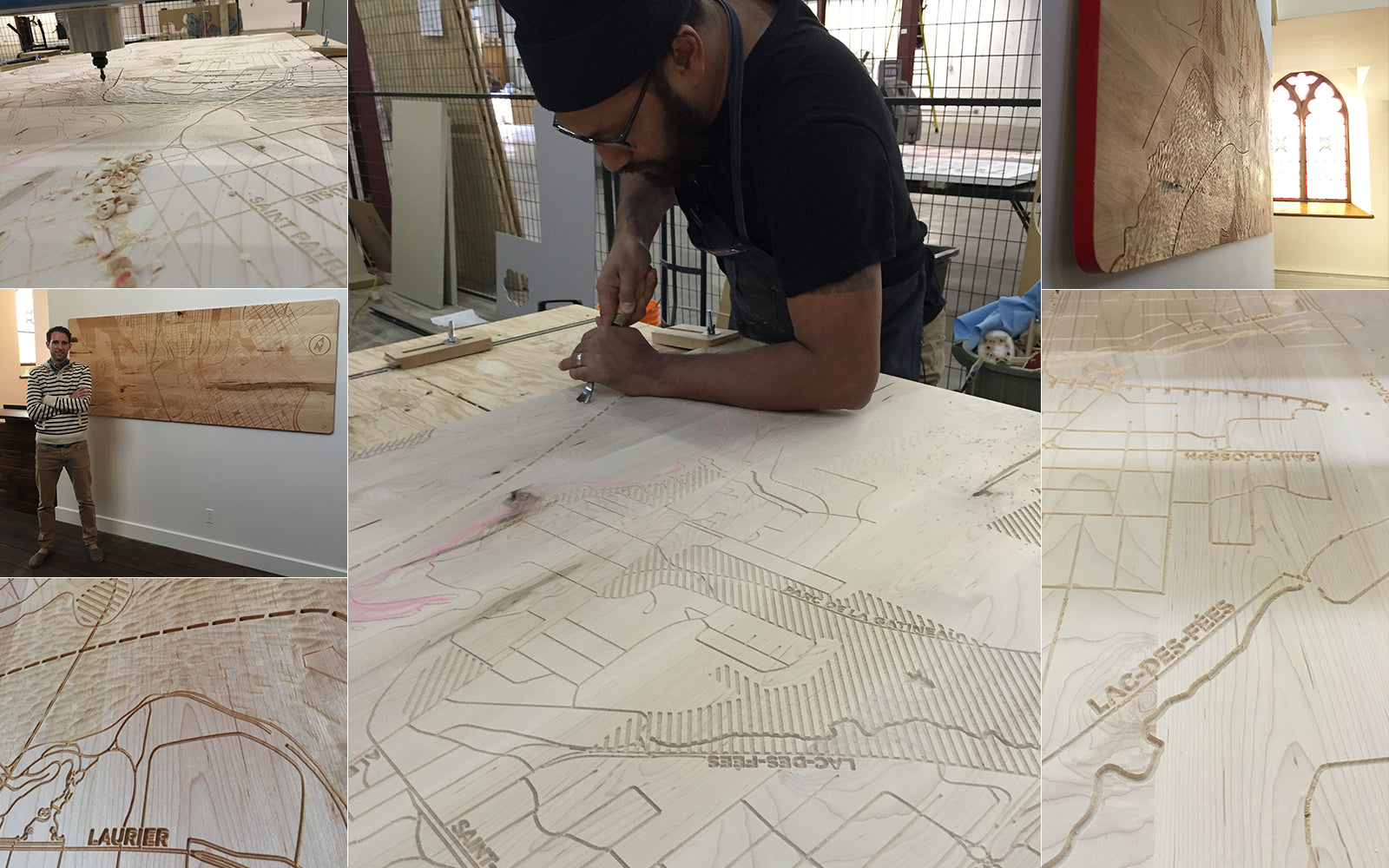 Innobec: Custom design and cartography etched wall panel