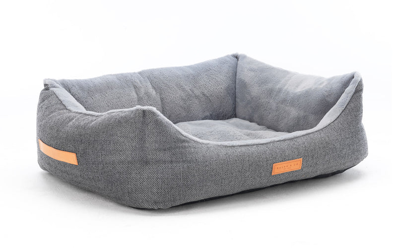 Herringbone Dog Bed - Balmoral Nest