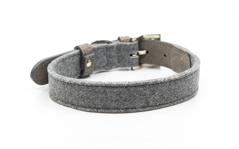 Fabric & Leather Collar - Dalton