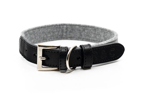 Fabric & Leather Collar - Eton