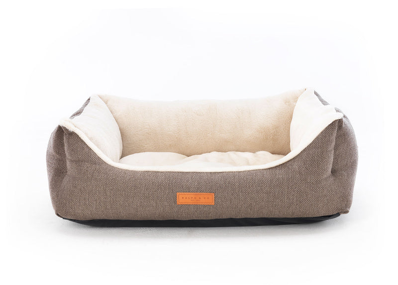 Herringbone Dog Bed - Lincoln Nest