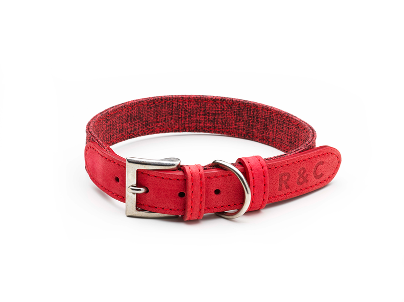 Fabric & Leather Collar - Etna