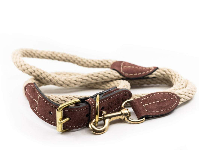 Ralph and Co Braided Rope Dog Lead - Natural Ivory