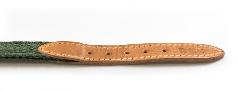 Ralph and Co Fabric & Leather Dog Collar - Richmond