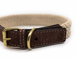 Ralph and Co Flat Rope Dog Collar - Olive Brown
