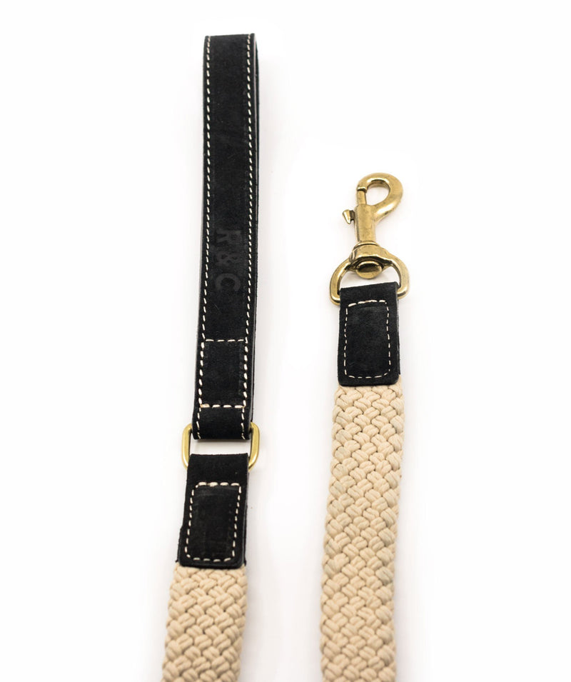 Ralph and Co Flat Rope Dog Lead - Black