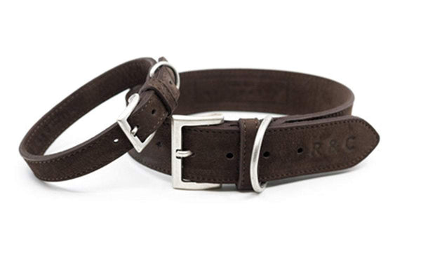 Ralph and Co Nubuck Dog Collar - Bergamo