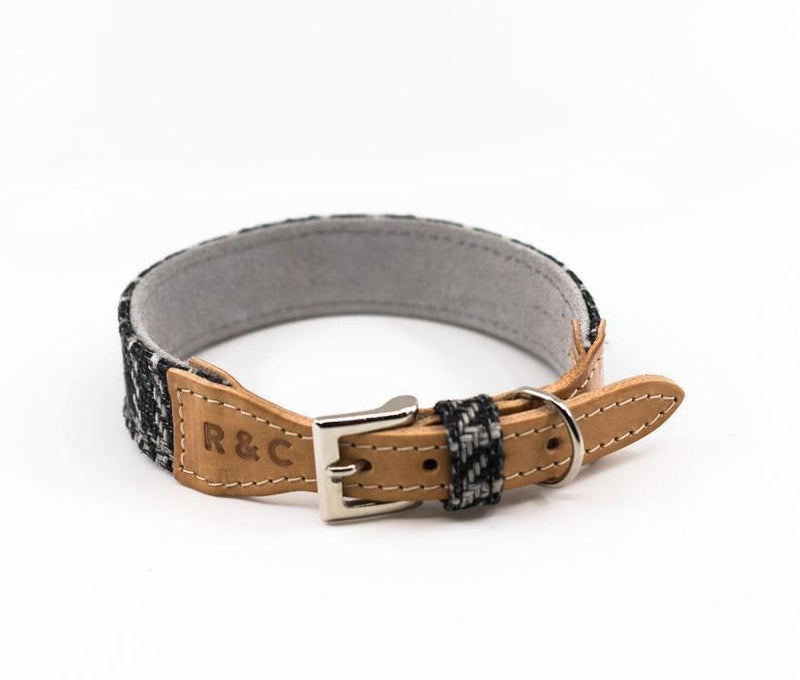 Ralph and Co Tweed & Leather Dog Collar - Ascot