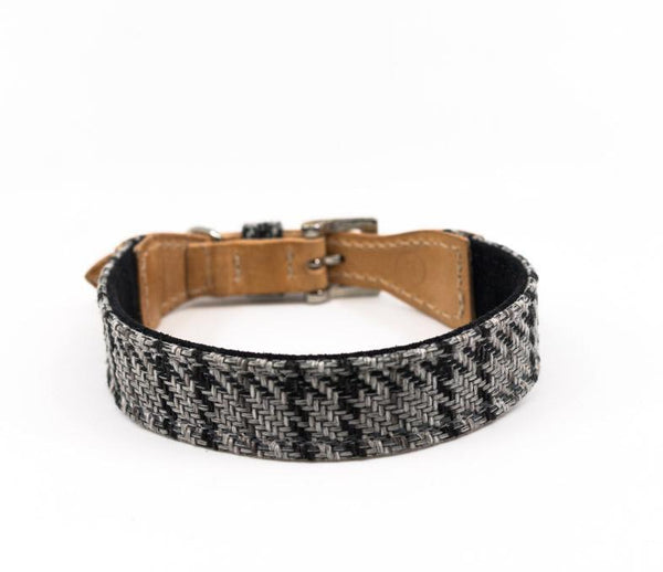 Ralph and Co Tweed & Leather Dog Collar - Henley