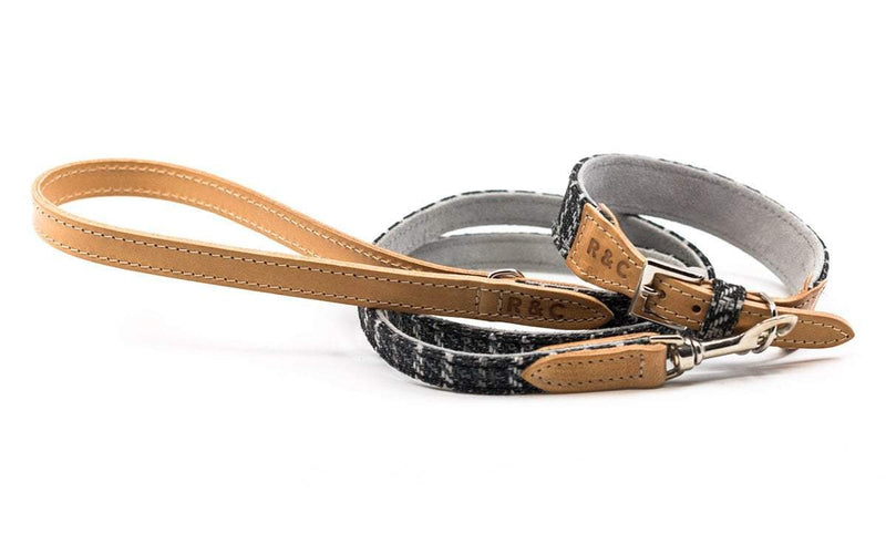 Ralph and Co Tweed & Leather Dog Lead - Ascot