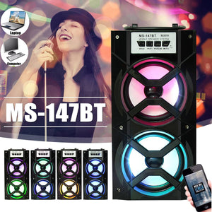 (50%off Only Today)Portable Karaoke Bluetooth Speaker and Radio with Free Microphone