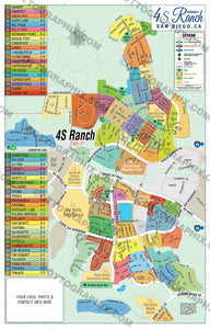 4S Ranch Map - PDF, layered, royalty free