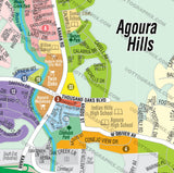 Agoura Hills Map - PDF, layered, royalty free
