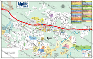 Alpine Map - PDF, layered, royalty free