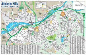 Anaheim Hills Map - PDF, editable, royalty free