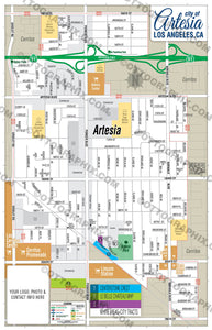 Artesia Map - PDF, layered, royalty free