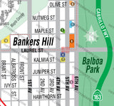 Bankers Hill Map - PDF, editable, royalty free