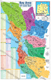 Bay Area Zip Code Map - PDF, editable, royalty free