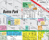 Buena Park Map - PDF, editable, royalty free