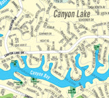 Canyon Lake Map, Riverside County, CA