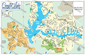 Canyon Lake Map - PDF, layered, editable