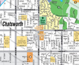 Chatsworth Map, Los Angeles County, CA