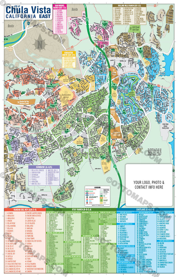 Chula Vista Map - PDF, layered, editable