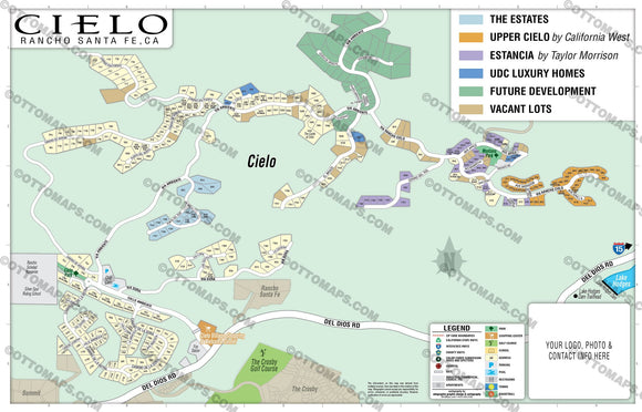 Cielo HOA Community Map - PDF, editable, royalty free