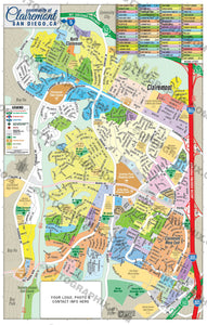 Clairemont Map - PDF, layered, editable