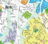 Claremont Map with Bay Ho and Bay Park - PDF, layered, editable